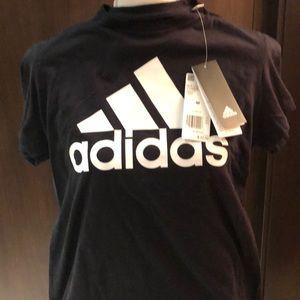 Adidas Ladies black Tshirt size medium NWT